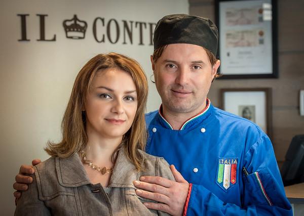 Il Conte Owners Alfredo Dappi and wife Maleda