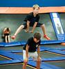 Playing leap frog. Aaven Mauser 13 Sarasota below & Myles Hunsdon 12 Sarsota Above