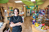 Paws in Paradise owner Teresa Moore (owner and groomer) Standing in the store front area