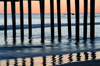 Cayucos_Pier_Posts_Reflections_Sunset_KKD3401