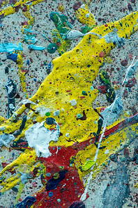Paint Abstract of Old Artist's Table
