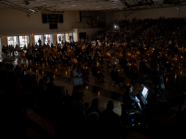 Fairfield graduates performed a candle lighting ceremony during Sunday's Fairfield High School Class of 2021 Commencement in Benton.
