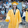 Fairfield's Caterina Steffen walks to her seat during Sunday's Fairfield High School Class of 2021 Commencement in Benton.