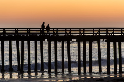 Pier & People at Sunset
