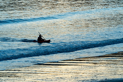 Kayaker Returning to Shore