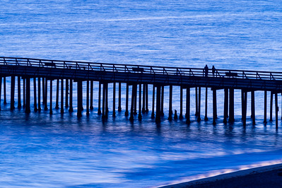 Pier, People and the Blues of Twilight