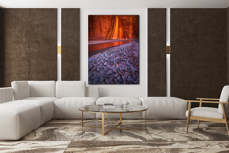 Marble and brown living room, poster