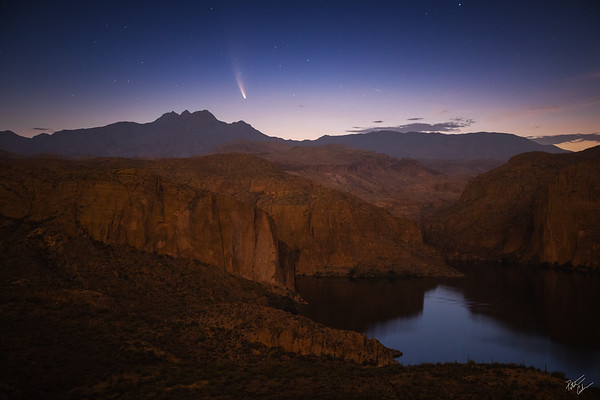 Comet Over Canyon (2020)