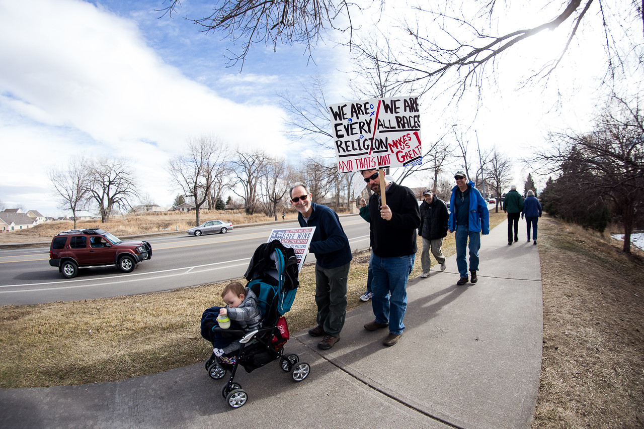 Fort Collins Protest Trump's Ban on Muslim Immigration, the Wall & Other Policies