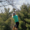 GREG KEIM | THE GOSHEN NEWS<br /> Junior Luke Morrison rips his tee shot on the No. 1 hole at Maplecrest Country Club Saturday in the Goshen Invitational. Morrison carded a 42-38—80 as Northridge won the team title.