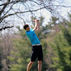 GREG KEIM | THE GOSHEN NEWS<br /> Sophomore Presten Mortola of the Lakeland Lakers strikes his tee shot on the first hole Saturday in the Goshen Invitational at Maplecrest Country Club.