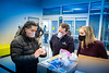 UB donated more than 200 reusable, 3D-printed face masks and 100 face shields to the Buffalo City Mission for distribution to its clients and staff in December 2020. The effort was organized by UB's 3D printing group, which formed at the start of the pandemic as a partnership among faculty, staff and students in the School of Dental Medicine, School of Engineering and Applied Sciences and the Jacobs School of Medicine and Biomedical Sciences. <br /> <br /> Photographer: Douglas Levere<br /> <br /> This image has been approved by UB's Office of Environment, Health and Safety to align with current (fall 2020) health and safety regulations during the COVID-19 pandemic.