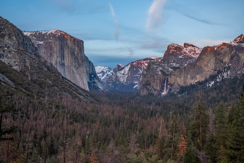 HDR Composition. Sunset. Tunnel View. Yosemite National Park, CA, USA