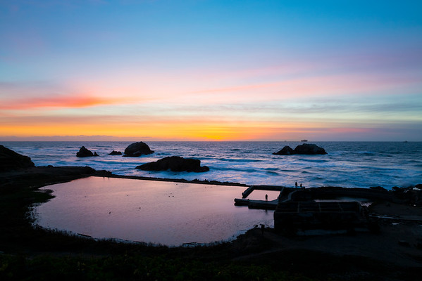 Sunset. Sutro Bath - San Francisco, CA, USA