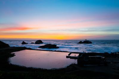 Sunset. Sutro Bath - San Francisco, CA, USA
