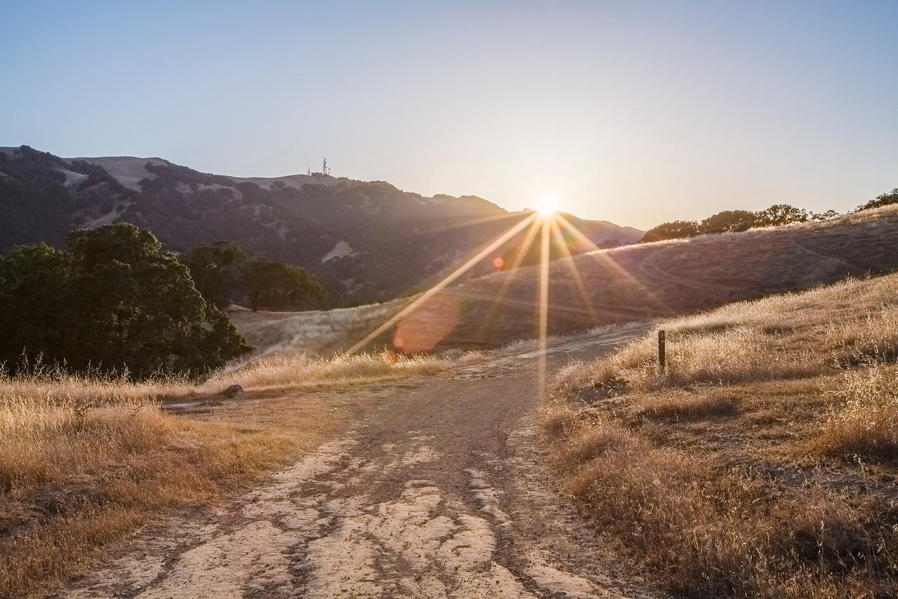 HDR Composition. Sunset. Pleasanton Ridge Regional Park - Sunol, CA, USA