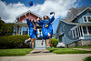 Alexa Federice (left) and Jaycee Miller (right) pose for a portrait outside their house in University Heights as they celebrate their graduation from the Colleg of Arts and Sciences on May 16, 2020. <br /> <br /> Photographer: Douglas Levere