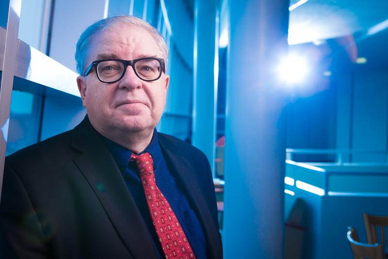 Portrait of Political Science Professor James Campbell in The Alfiero Complex<br /> <br /> Photographer: Douglas Levere