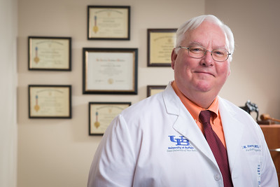 Portrait of Carroll Harmon UB, John E. Fisher Chair in Pediatric Surgery, Chief, Division of Pediatric Surgery, Program Director, Pediatric Surgery Fellowship Program at WCHB  Photographer: Douglas Levere