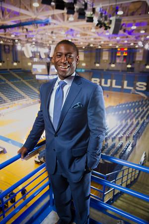 Portrait of Allen Greene, University at Buffalo Athletic Director in Alumni Arena  Photographer: Douglas Levere