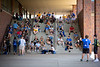 The Honors College holds a special orientation, including a 'H' photo, with first year students outside Capen Hall in August 2019 during Welcome Weekend.<br /> <br /> Photographer: Meredith Forrest Kulwicki