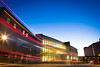 Sunset at the Alfiero Center on the North Campus.<br /> <br /> Photographer: Douglas Levere