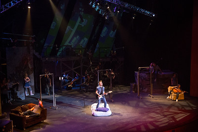 """Dress rehearsal for """"Green Day's American Idiot"""" in the Drama Theatre in the Center for the Arts (CFA). Directed and Choreographed by Gary John La Rosa.  Photographer: Meredith Forrest Kulwicki"""
