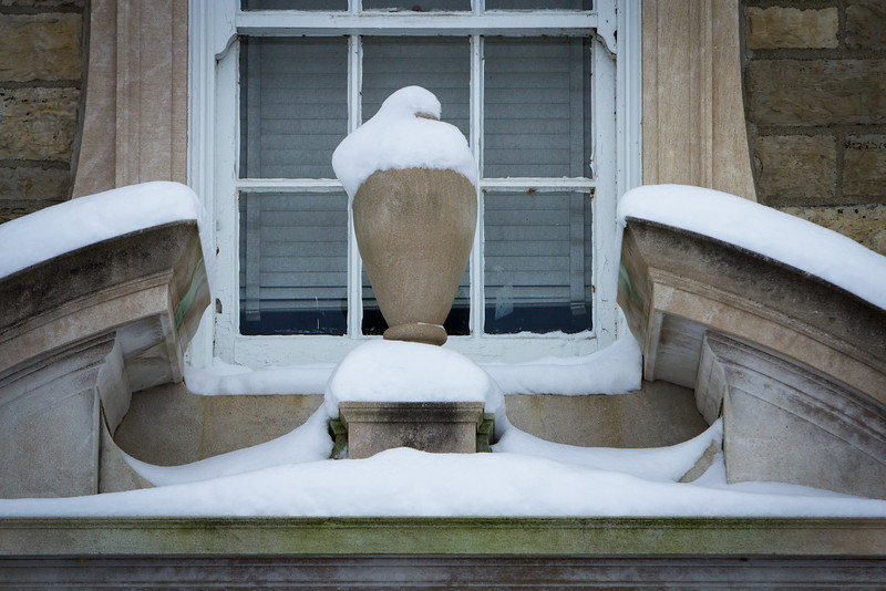 Exterior detail of Clark Hall on South Campus after snowfall<br /> <br /> Photographer: Douglas Levere