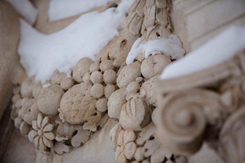 Photos of South Campus after a snowstorm<br /> <br /> Photographer: Douglas Levere
