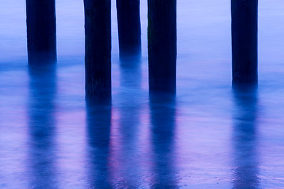 Pier Pilings & Water in Motion #2