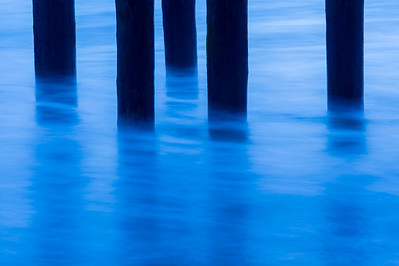 Pier Pilings & Water in Motion #1