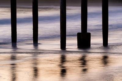 Pier Pilings at Twilight
