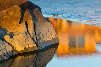 Sunset Reflections at Low Tide