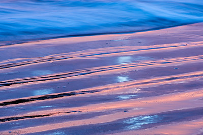 Sunset Surf, Reflections, Lines & Colors