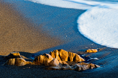 Golden Rocks, Beach Texture & Foamy Surf