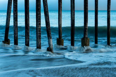 Late-Day Blues and Pier Pilings