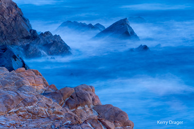 Rocks and Surf at Twilight