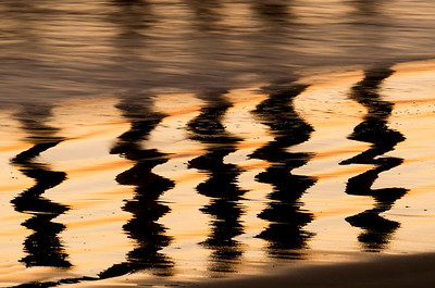 Zigzag Pattern of Sunset Pier Reflections 2