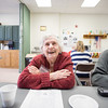 JOED VIERA/STAFF PHOTOGRAPHER-Lockport, NY-   Mary Sullivan laughs while working on a word search puzzle during the Memory minders program at the Dale Association.