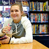 JOED VIERA/STAFF PHOTOGRAPHER-Lockport , NY-Hannah Smith, 16, hangs out at Pulp 716 after school.