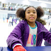 JOED VIERA/STAFF PHOTOGRAPHER-Lockport, NY-    Aiyanna Gantt, 8, takes a break from Open Skate at Cornerstone Arena.