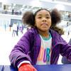 JOED VIERA/STAFF PHOTOGRAPHER-Lockport, NY-    Aiyanna Gantt, 8, takes a break from Open Skate at Cornerstone Arena.