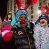 JOED VIERA/STAFF PHOTOGRAPHER-Lockport, NY-   Kids dressed as reindeer walk in the Light Up Lockport Parade.
