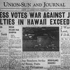 The front page of the December 8th, 1941 edition of the Union-Sun and Journal.