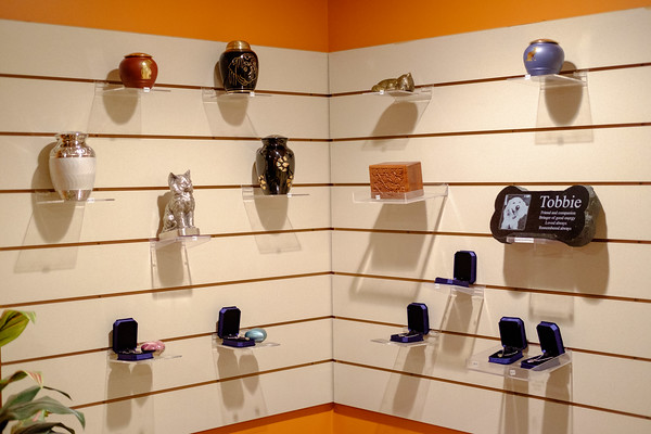 JOED VIERA/STAFF PHOTOGRAPHER- Lockport, NY-Urns, gravestones and other options for pets whove passed on at Pets in Peace.