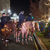 JOED VIERA/STAFF PHOTOGRAPHER-Lockport, NY-    Sheriffs deputies lead the Light Up Lockport Parade on horseback.