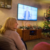 JOED VIERA/STAFF PHOTOGRAPHER-Lockport, NY- Dawn Arnold a watches the Ellen Show.