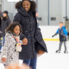 JOED VIERA/STAFF PHOTOGRAPHER-Lockport, NY-    Sabina Duverglas and Zamera Baldwin, 5, enjoy open skate at Cornerstone Arena.