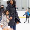 JOED VIERA/STAFF PHOTOGRAPHER-Lockport, NY-    Sabina Duverglas and Zamera Baldwin, 5, enjoy open skate at Cornerstone Arena.