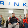 JOED VIERA/STAFF PHOTOGRAPHER-Lockport, NY-    The crowd watches  a round table event at Cornerstone Arena during Hockey Day.